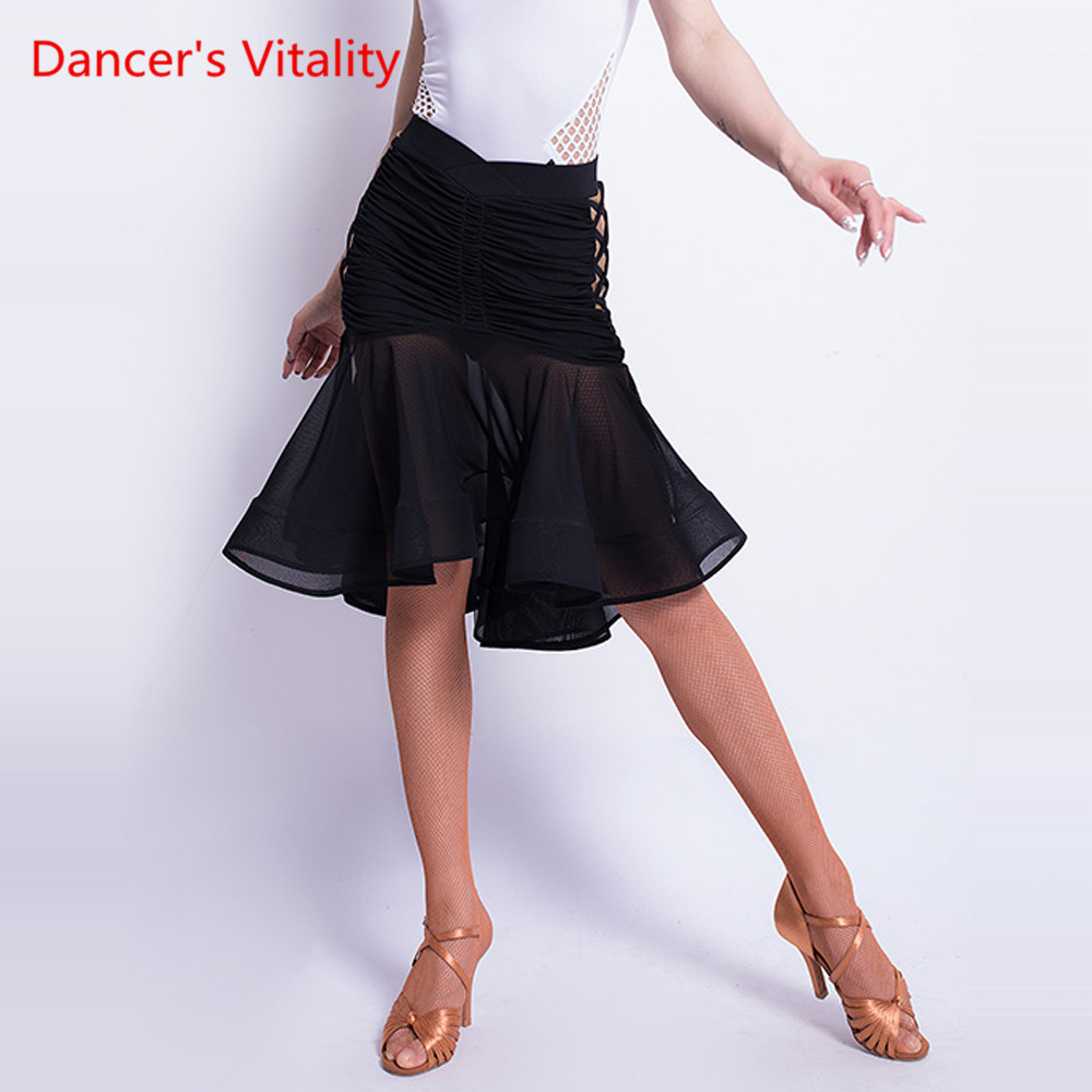 Sexy Latin Dance Skirt New Female Adult Skirt Underwear Split Dance Clothes Latin Dance Competition/performance Clothes S-XXL