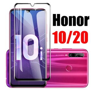 5D Protective glass on for huawei honor 20 10 10i lite pro view v20 tempered screen protector 10lite 20pro 20lite light armored(China)