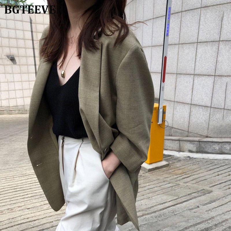 Vintage Women Solid Blazer Autumn Pocket Three-quarter Sleeve Female Suit Jackets Ladies Workwear Suit Retro Outerwear Coat 2019