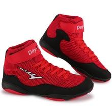 2021 Mens Wrestling Sneaker Designer Boxing Gear Mens Red Boots Anti-Slip Man Women Wrestling Shoes Breathable Boxing Shoes Men