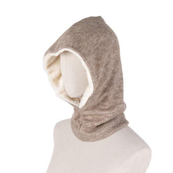 Plain Color Outdoor Hood Face Mask Neck Warmer Winter Fleece Thermal Neck Gaiter for Outdoors Winter Sports