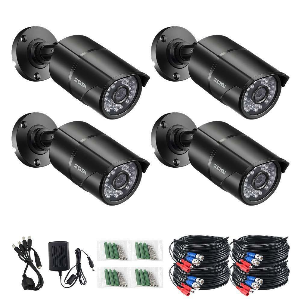 ZOSI 4pcs/lot 1080p 4in1 CCTV Security Cameras ,100ft Night Vision ,Outdoor Whetherproof Surveillance Camera Kit