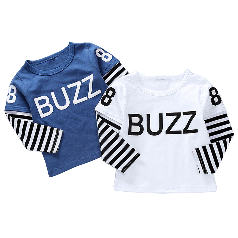 New Spring Boys Girls Cartoon Cotton T Shirts Children Tees Boy Girl Long Sleeve T Shirts Kids Tops Brand Baby Clothes 12M-8Y 33