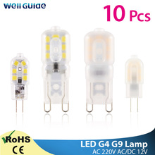 10pcs LED G4 G9 Lamp 3W 5W AC 220V DC 12V Mini LED Bulb Spotlight SMD2835 Chandelier High Quality Lighting Replace Halogen Lamps