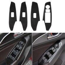 Pour Mazda 3 Axela voiture fenêtre interrupteur ajuster ascenseur voiture châssis panneau couverture garniture garniture voiture autocollants 4 pièces