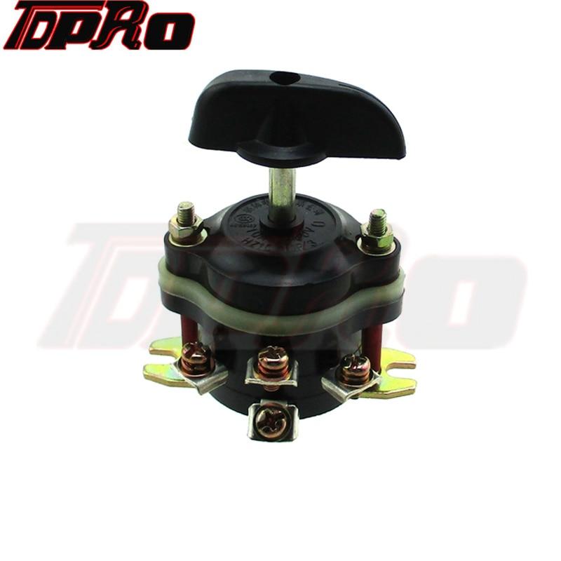 TDPRO 12V/36/48/60/72/84/96V Electric Scooter Brush Knob Switch On/Off Forward/Backward Switch Mobility Go Kart Scooter ATV Quad