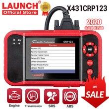 LAUNCH X431 CRP123 OBD2 EOBD automotive scannerABS Airbag SRS Transmission Engine Car Diagnostic Tool Multilingual free update