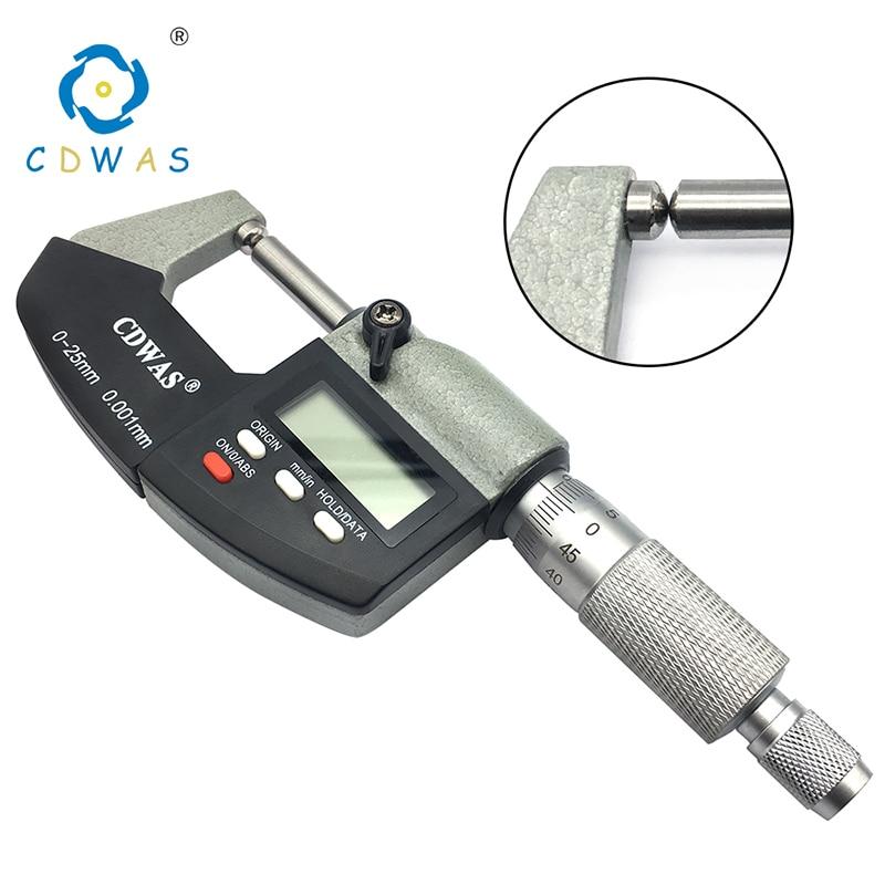0-25mm Outside External Micrometer Metric Gauge Caliper Measuring Tool With Box
