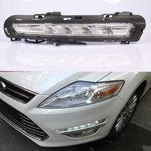Дневные ходовые огни DRL, противотуманные фары 12 в, реле дневного света, желтый сигнал поворота, 2 шт. для Ford Mondeo 2011 2012 2013