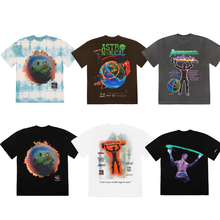 Travis Scott Cactus Jack Astroworld T Shirt Men Women Best Quality Washed Do Old Travis Scott T-shirt Tees(China)