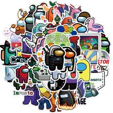 50 sztuk gra wśród nas naklejki Graffiti gry naklejki Anime zabawki bagaż Laptop gitara naklejki wodoodporne bez pozostawiania kleju tanie tanio Model CN (pochodzenie) Unisex Naklejki magnetyczne stiker 3 lat Wyroby gotowe Zapas rzeczy