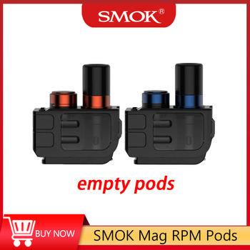 Pre-order 3pcs/pack SMOK Mag Empty RPM Replacment Pods Top-refill 3ml Capacity Cartridge&510 Drip Tip No Coil RPM Pods For Mag