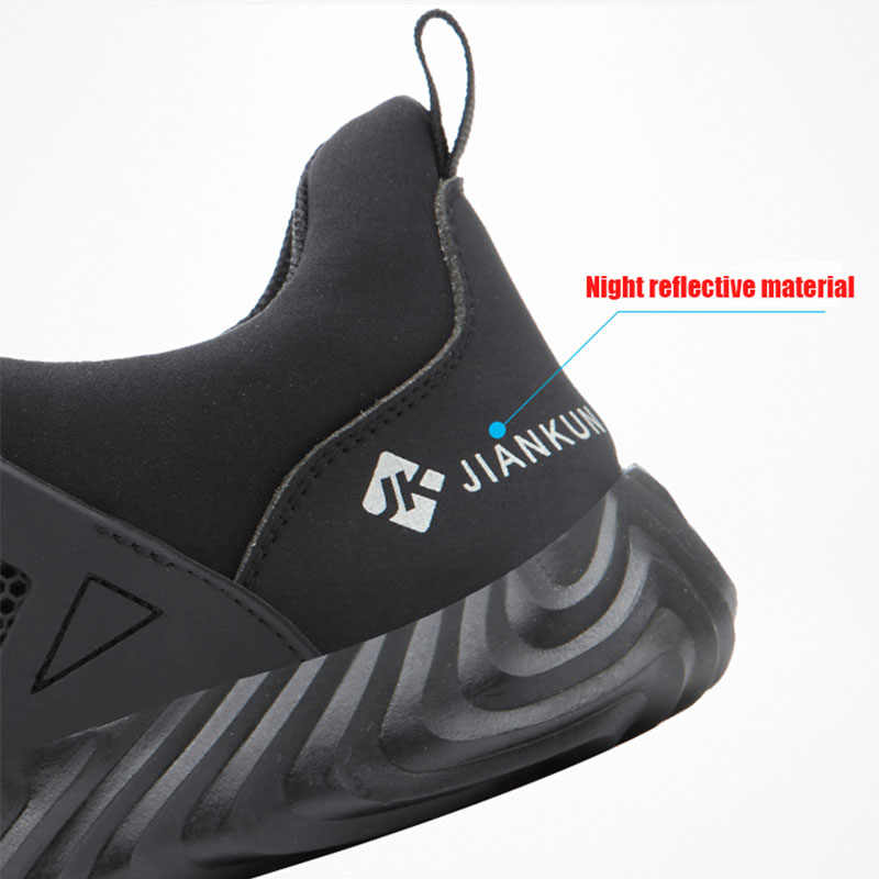 Safety Shoes 2019 Autumn And Winter Men's Shoes Steel Toe Cap Casual Shoes Breathable Running Shoes Work Fashion Shoes