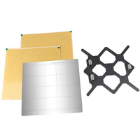 3D Printer MK52 Heatbed Steel Plate PEI Y Axis Support Plate Kit for Prusa I3 Mk3