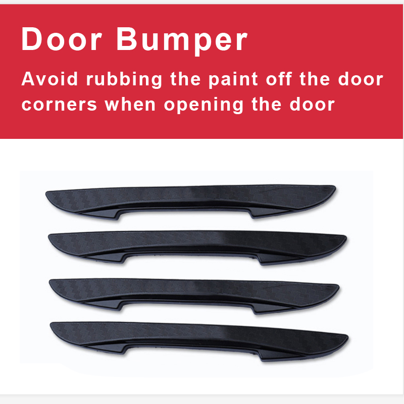 NN 4Pcs Car Door Protector Flexible Auto Door Guard Edge Corner Bumper Guards Buffer Molding Protection Strip Bar