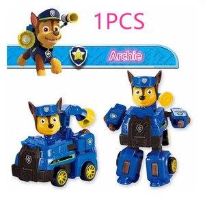 Image 5 - Nuovo paw pattuglia cane anime giocattolo figurine giocattolo di plastica modello di azione variabile fantoccio modello cane patrol giocattolo per bambini regalo Di Natale
