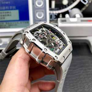 AAA Stainless Steel Limitde Edition Automatic Mechanical Wristwatch Men's Top Luxury Brand Design Watches Rubber Strap RM11-03