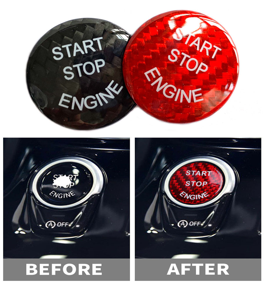 <font><b>Carbon</b></font> <font><b>Fiber</b></font> Car Styling <font><b>Interior</b></font> Engine Start Stop Button Cover Trim For <font><b>BMW</b></font> E60 <font><b>E90</b></font> E91 E92 E93 E70 F10 F12 F25 F26 F15 F16 image