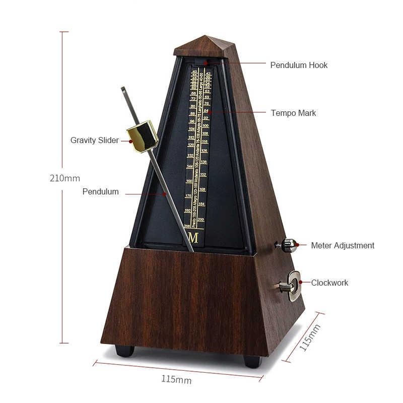 Mekanis Bel Metronome Terdengar Klik untuk Gitar Bass Piano Biola Seth