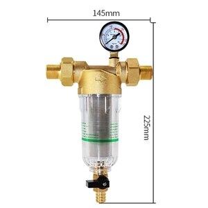 Image 2 - מים מראש מסנן מערכת 2/5 אינץ & 1 אינץ פליז רשת Prefilter מטהר W/מפחית מתאם & מד