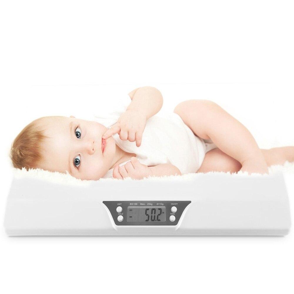 LCD numérique électronique balance Stable bébé balance 20kg Mini multifonction faible alarme enfants animal de compagnie poids corporel mètre BS-199