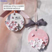 Korean Style Small Cherry Blossom Silicone Mold Aromatherapy Decorative Flower Car Aromatherapy 3d Plaster Mold Home Decor