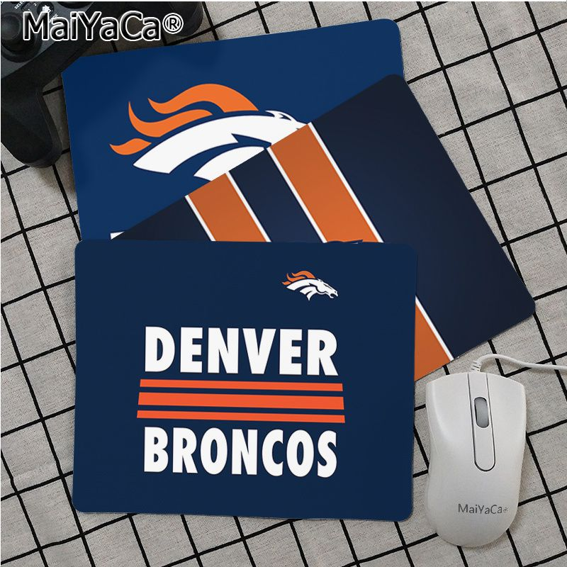 Maiya Top Quality Denver Broncos Durable Rubber Mouse Mat Pad Top Selling Wholesale Gaming Pad Mouse