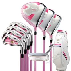 New women Golf Clubs HONMA U100 Full set Golf Driver+Fairway wood+irons Putter L Flex Graphite shaft and Golf bag Free shipping
