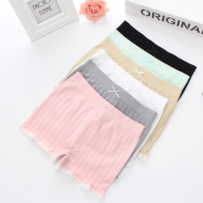 Women Safety Pants Strong Stretched Underwear Bottom Sexy Lace Underpants Seamless Tights Shorts Pants Women Boxer Shorts