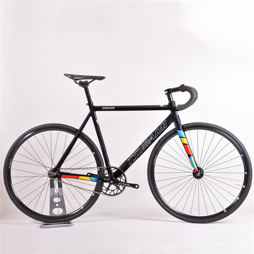 Фиксированная Шестерня для велосипеда TSUNAMI SNM100, рама из алюминиевого сплава, 49 см, 52 см, Односкоростной велосипедный трек с подшипником ступ...