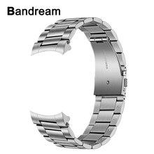 Съемный ремешок для наручных часов из нержавеющей стали + однотонные зажимы без зазора для Samsung Galaxy Watch 46 мм/Gear S3 быстросъемный ремешок