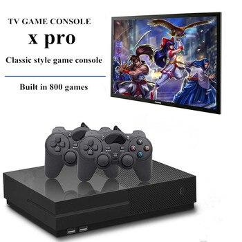 Consola de videojuegos 4k HD salida HDMI integrado Retro 800 juegos clásicos PS1 TV dos joystick Video Retro mando de Juegos X PRO