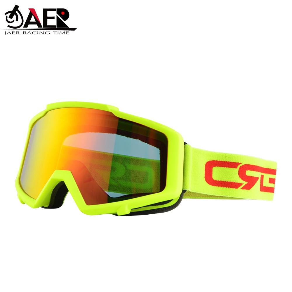 JAER 100% Motorcycle Goggles Ski Glasses Motocross Goggles Racing Eyewear Snowboard Glasses Colorful Lens Glasses UV Protector
