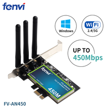 300mbps dual band wifi pci e adapter antennas wireless computer network pcie card 802 11a b g n 300m wifi wlan for desktop pc PCI Wi-Fi Adapter Dual Band Wireless-AN 450Mbps Desktop Network Card 802.11a/b/g/n With 2.4/5GHz For PC Computer