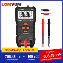 Digital Multimeter Flashlight True Rms LOMVUM Auto-Ranging AC/DC NCV 6000 Counts High-Precision