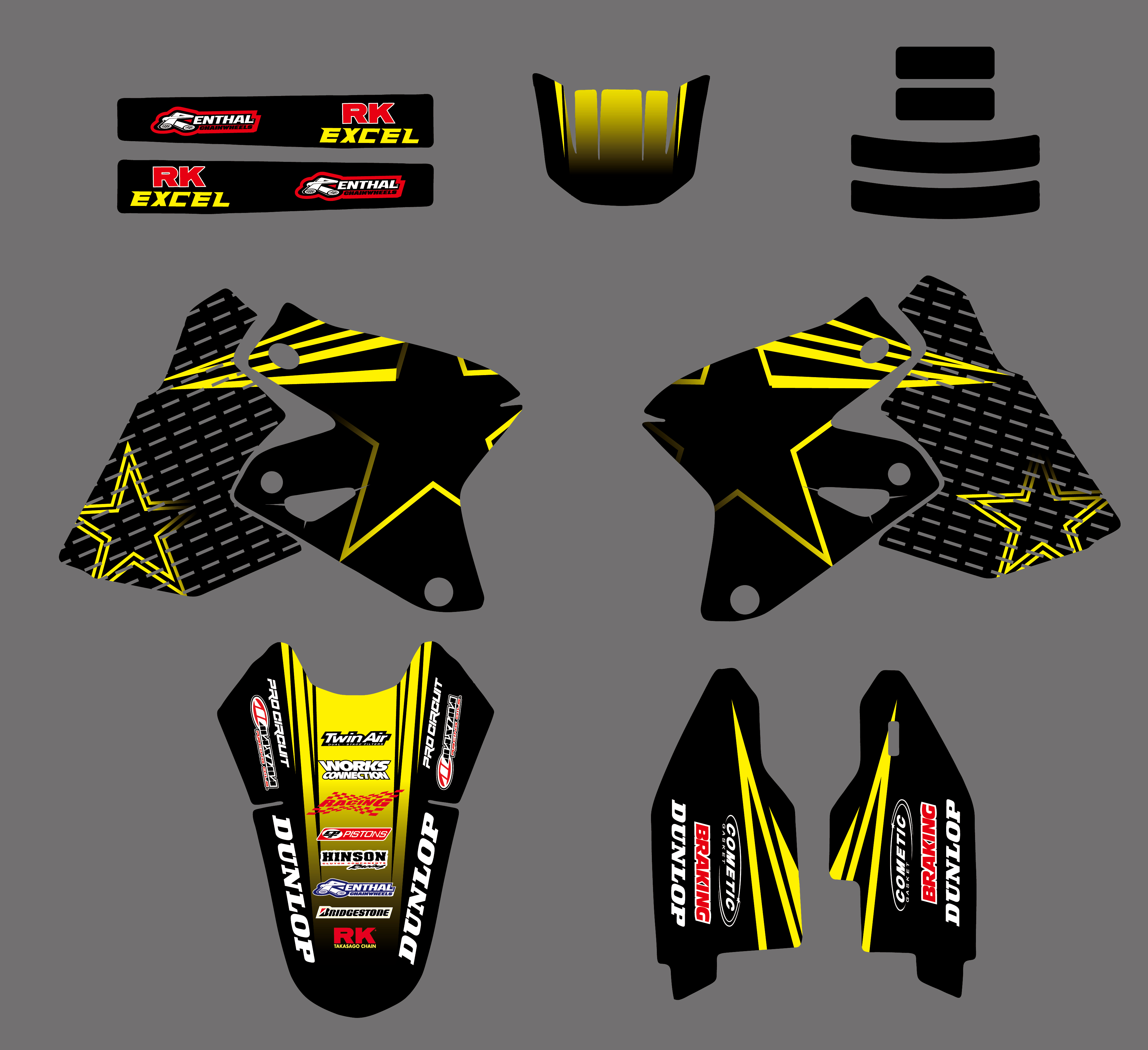 0026 Star New Style TEAM GRAPHICS DECALS <font><b>Stickers</b></font> FOR <font><b>SUZUKI</b></font> DRZ400 DRZ DRZ400E DRZ400SM KLX400 ALL YEAR image