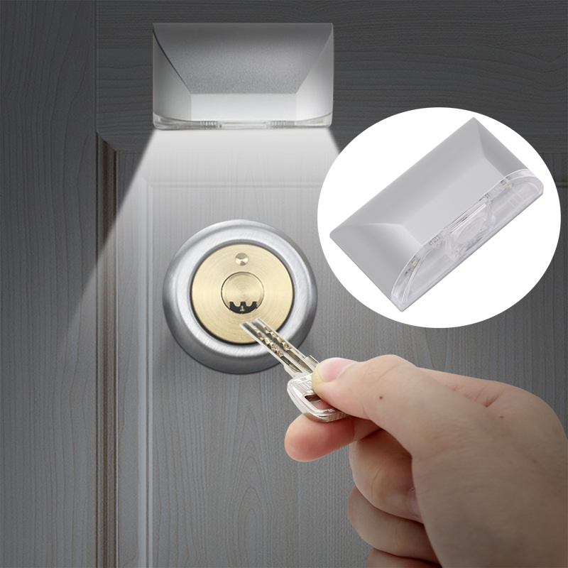 Home Infrared PIR Keyhole Light Auto ON/OFF Detector Door Lock Light Wireless Night Lamp For Stairs Warehouse Cupboard Wardrobe LED Night Lights  - AliExpress