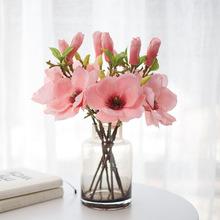 Pu Magnolia orchidea symulacja kompozycja kwiatowa dekoracja wnętrz dekoracje weselne akcesoria do dekoracji wnętrz tanie tanio Sztuczne Kwiaty Kwiat Oddział Ślub