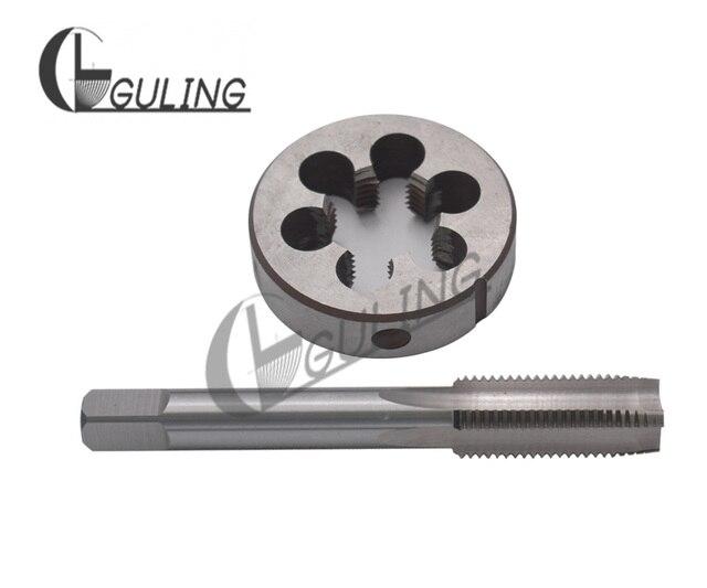 1Set HSS Right Hand Screw tap and die set M1 M1.2 M1.4 M1.5 M1.6 M1.7 M1.8 Round dies Metric Fine Thread Straight Flute taps