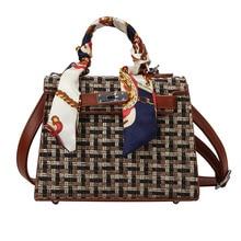 Advanced Texture Handbag 2019 New Wave Autumn and Winter Silk Scarf  Korean Version of The Wild Woolen Messenger Bag