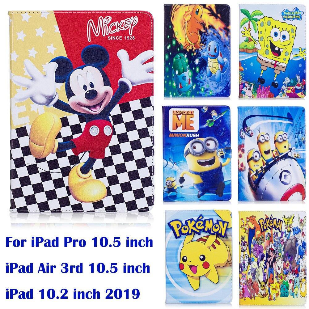 Чехол книжка с подставкой для Apple iPad Pro 10 5 &quotiPad Air 3 2 2019 чехол мультяшным Микки