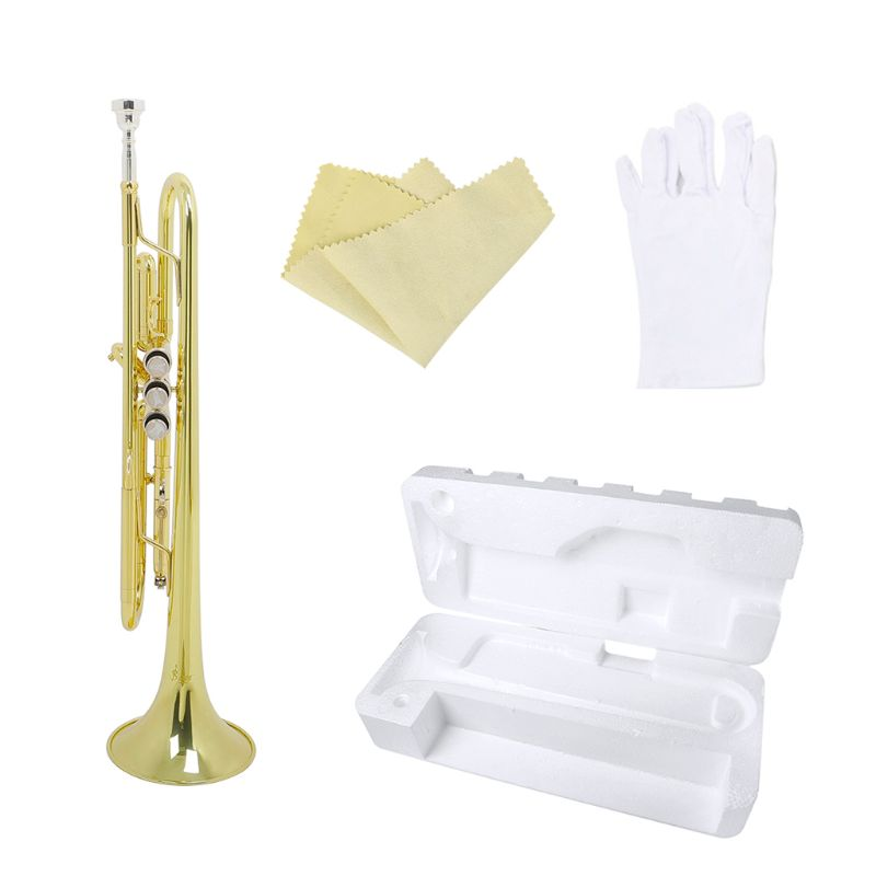Trompette Bb B plate en laiton Durable trompette avec un embout plaqué argent