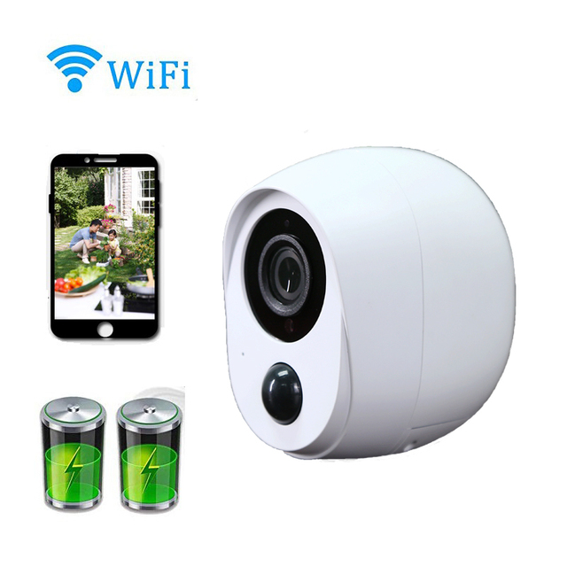 Wouwon 100% Wire Free Included Battery IP Camera Outdoor Wireless Weatherproof Security WiFi Camera CCTV Alarm Picture iCSee APP