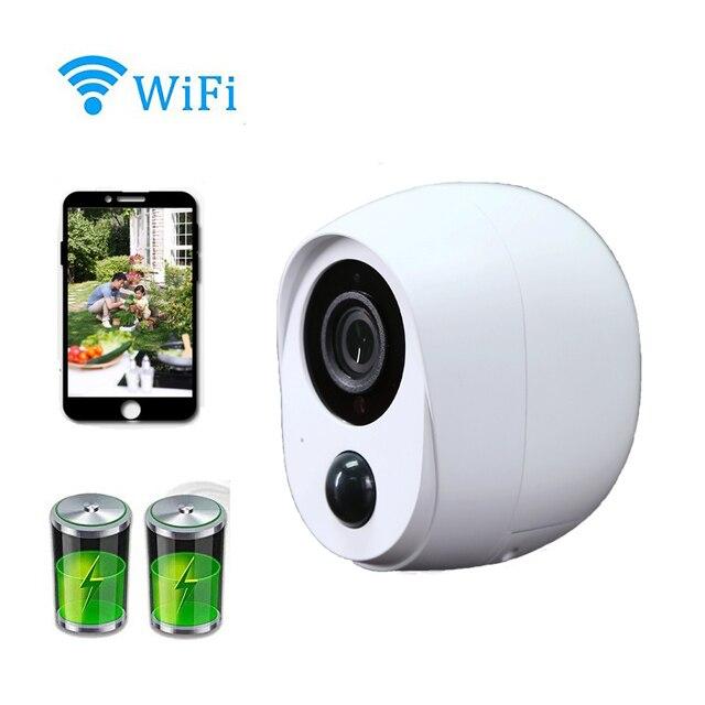 Wouwon 100% bez drutu w zestawie bateria IP kamera zewnętrzna bezprzewodowa odporna na warunki atmosferyczne kamera wifi do monitoringu CCTV Alarm obraz iCSee APP