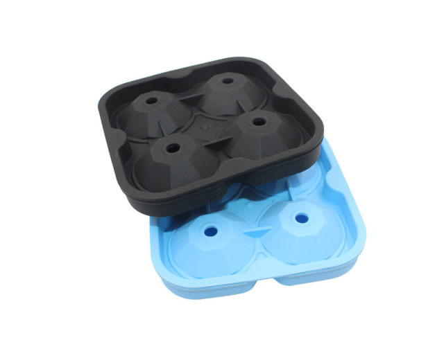 New 4 Cavity Diamond Shape 3D Ice Maker