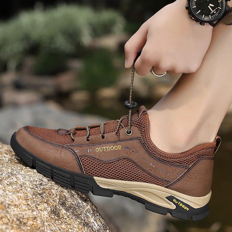 ar livre tênis masculino calçado leve deslizamento-sobre sandálias masculinos zapatos