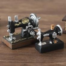 Decoración del hogar, máquina de coser de resina Vintage, Mini decoraciones creativas de escritorio, gabinete de vino, ornamento, Bar de escritorio, decoración pequeña