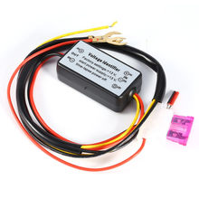 DRL Controller Auto Car LED Daytime Running Lights Controller Relay Harness Dimmer On/Off 12-18V Fog Light Controller(China)
