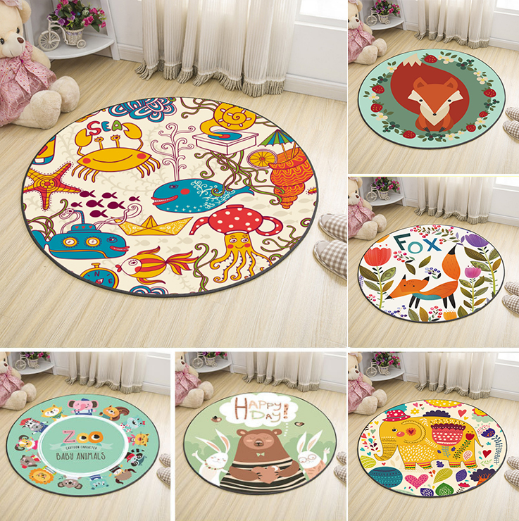 Cartoon Animals Dinosuar Elephant Baby Play Mats Child Crawling Blanket Carpet Toys Soft Flannel Nordic Kids Room Decor