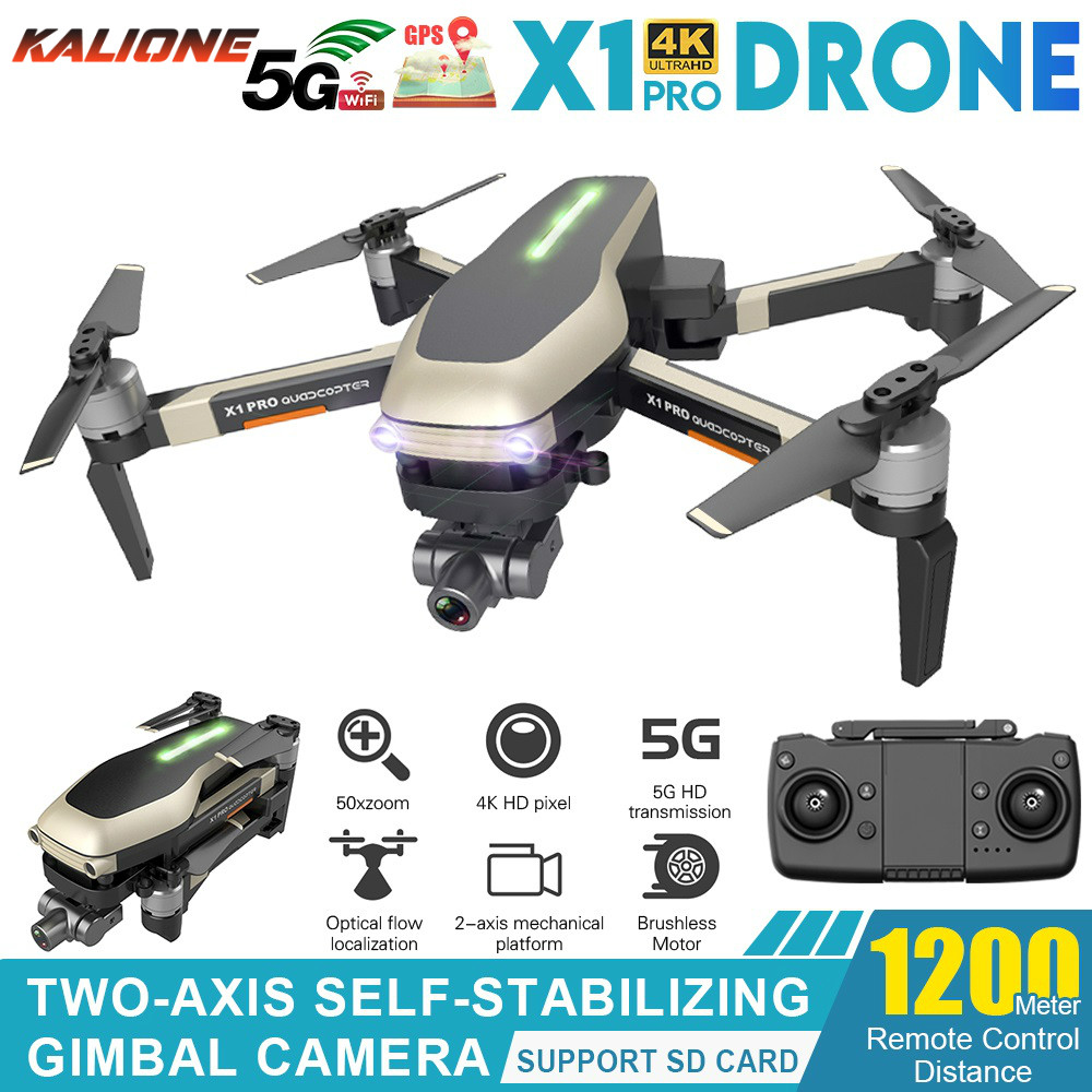 X1 PRO GPS Profissional Drone 4K with Gimbal Camera HD 5G WiFi FPV 1 2km control Brushless Motor RC Quadcopter Dron VS L109 PRO